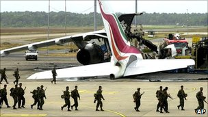 Aftermath of attack on Sri Lankan airport