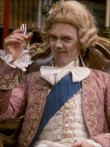 Hugh Laurie as the Prince Regent in Blackadder