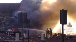 Shrewsbury's gas explosion in January 2010. Picture: Linda Bates