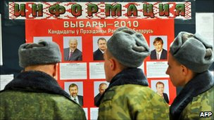Election poster in Minsk