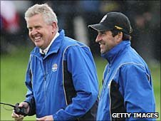 Colin Montgomerie and Jose Maria Olazabal