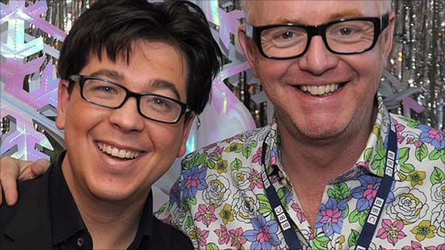 Michael McIntyre and Chris Evans