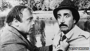 Peter Sellers as Inspector Clouseau with Herbert Lom (l)