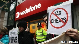 Protesters from UK Uncut