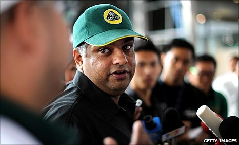 Team Lotus owner Tony Fernandes
