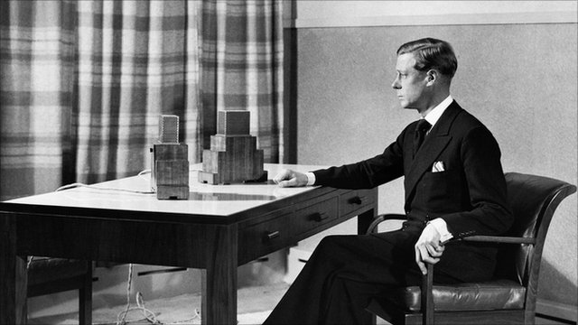 HRH the Duke of Windsor (then King Edward VIII), broadcasting to the Empire from Broadcasting House