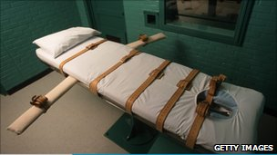 A table used for lethal injections