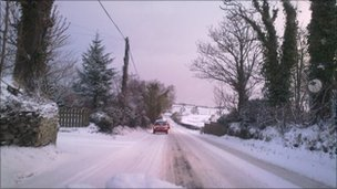 Snowy roads, Derry