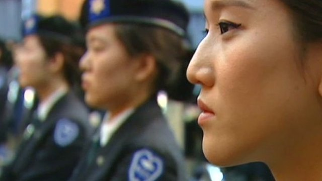 north korean women army. north korean women army.