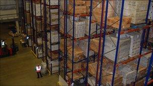 Berry Bros and Rudd warehouse