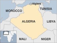 A map of Algeria