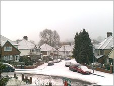 Snow in Forest Hill on Friday 17 December