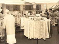 Milans saree department in the 1970s