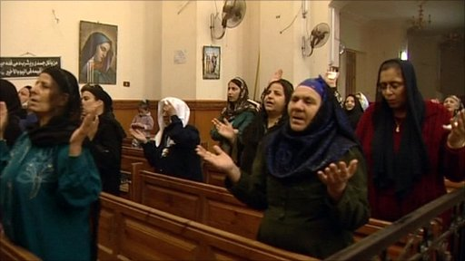 Coptic Christians praying