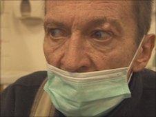Vladimiras in hospital in Lithuania
