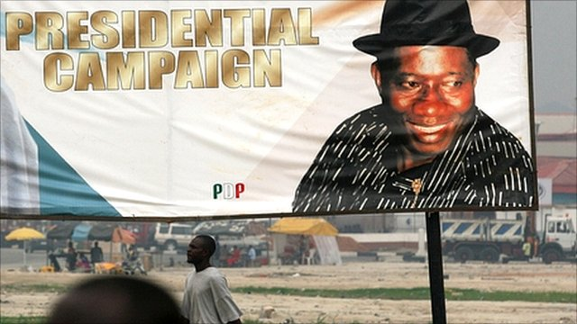 Billboard from previous Nigerian presidential campaign