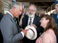 HRH Prince Charles, Colin Farlow and Kim Bailey