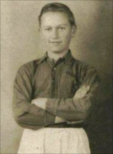 Keith Matheson in his football kit in 1941