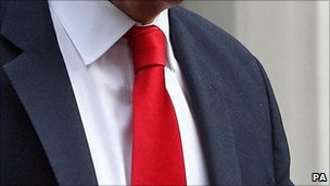 Red tie