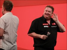 Colin Lloyd celebrates his win over Andree Welge