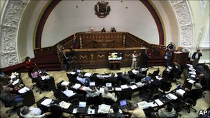 The outgoing parliament is dominated by Mr Chavez's supporters