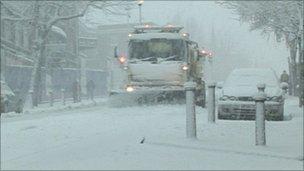 Snow plough in Tunbridge Wells
