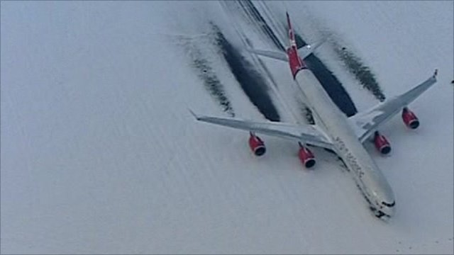 Plane on runway at Heathrow