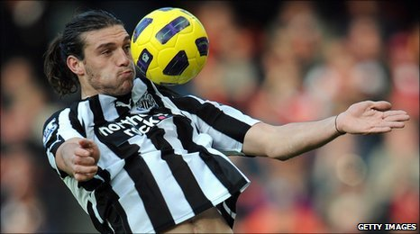 Andy Carroll in action for Newcastle