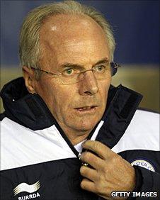 Leicester manager Sven-Goran Eriksson
