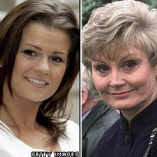 Kerry Katona (left) and Angela Rippon