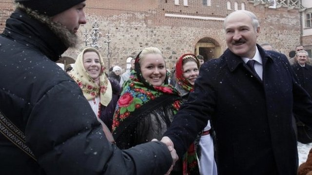 Alexander Lukashenko meeting voters