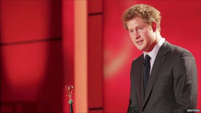 Prince Harry collects award