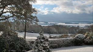 Ian Sargeant took this picture of the wintry view of Crondall in north