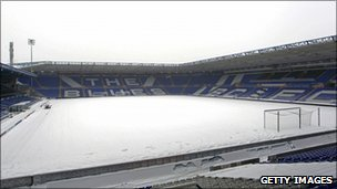 Snow at the St Andrews' ground on Saturday