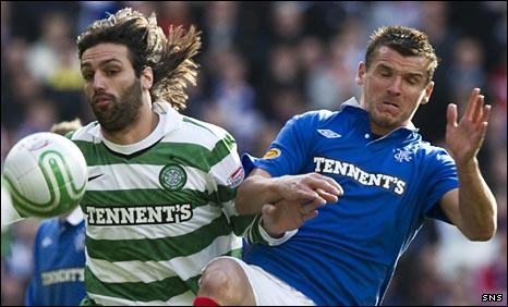 Celtic's Giorgios Samaras and Rangers' Lee McCulloch