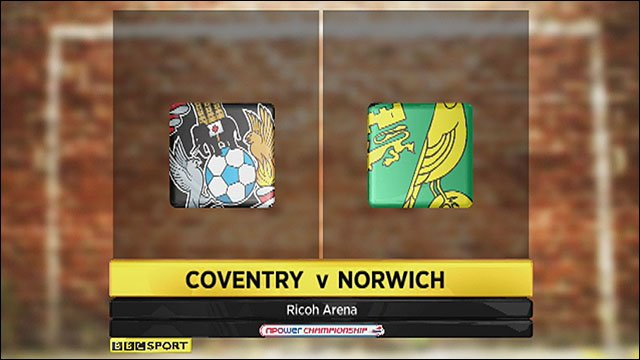 Coventry 1-2 Norwich