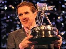 Tony McCoy with the Sports Personality of the Year trophy