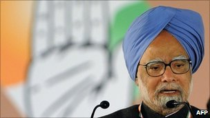 Prime Minister Manmohan Singh delivers his speech in Delhi on 20 December 2010