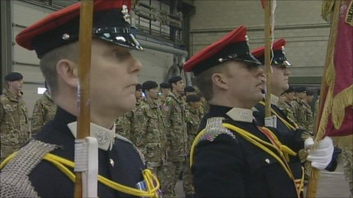 The Queen's Royal Lancers returning home to Catterick