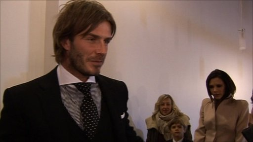 Football star David Beckham speaks to School Report