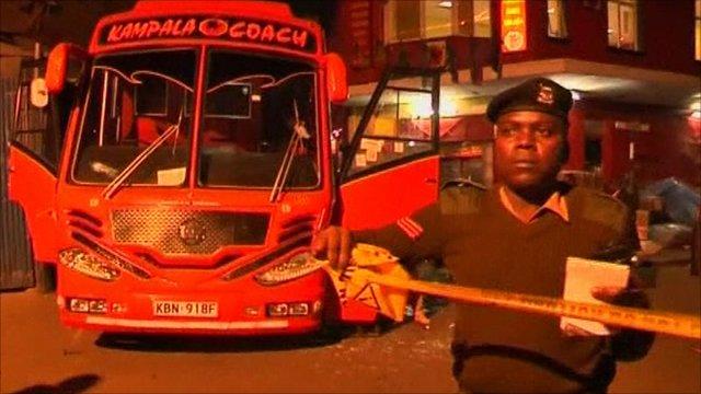 Kenya bus wreckage