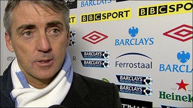 Mancini slams Man City defending
