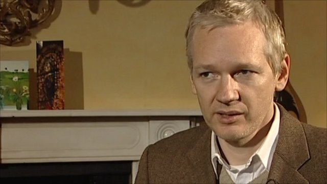Julian Assange interviewed for the BBC's Today programme