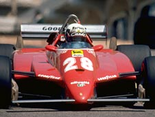 The 1982 Ferrari (126C2), driven by Didier Pironi at Long Beach