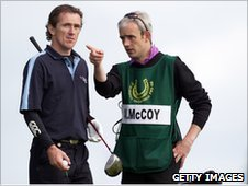 Tony McCoy and Ruby Walsh at a charity golf event in Ireland