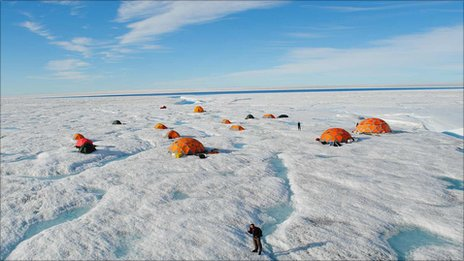 The ice sheet camp