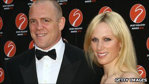 Mike Tindall and Zara Phillips attends the Sport Industry Awards in May 2010