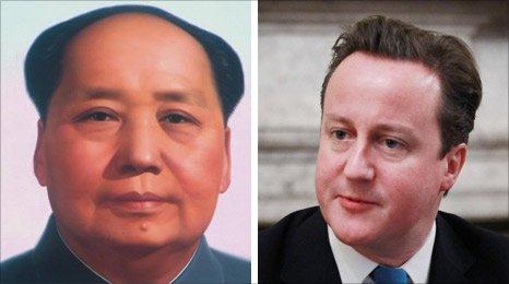 Chairman Mao and David Cameron