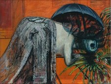 Detail of Francis Bacon's Figure Study II, 1945-46 (c) Kirklees Collection