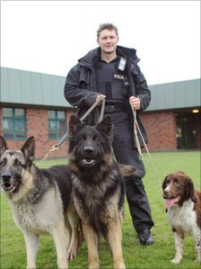 Pc with Major (left), Fonz and Seamus